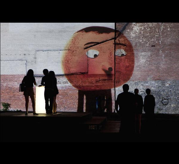<em>Bla Bla</em>, Parcours num&eacute;rique, Vincent Morisset.<br>Cr&eacute;dit : Martine Doyon, Quartier des spectacles.