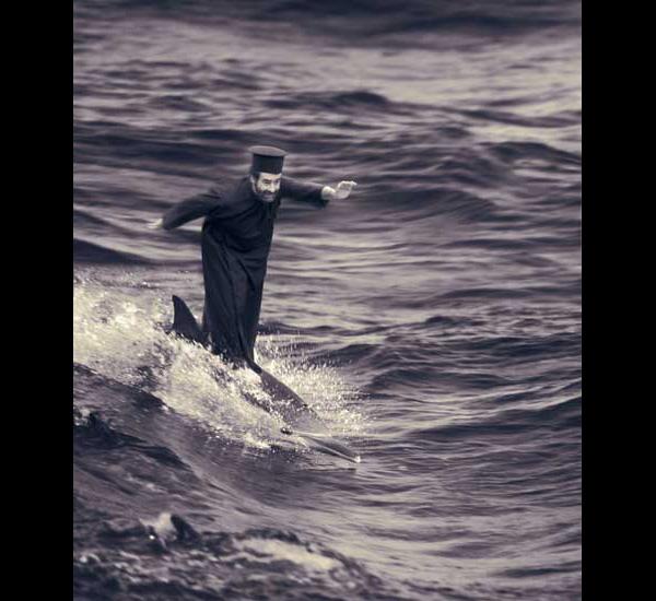Le Miracle du dauphin surfant, de la série Miracles & Co, 2002, By Joan Fontcuberta, © Joan Fontcuberta