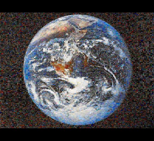 Googlegrama 02: monde, 2005. Recherche de mots : «Ciel», «Enfer» y «Purgatoire» en espagnol, français et anglais.