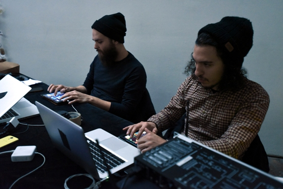 Creative coding — with Kevin McDonald and Karim Lakhdar at Suyama Space, photo credit Brian Foulkes