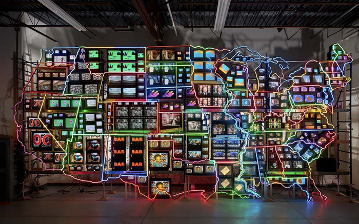 Nam June Paik, Electronic Superhighway,1995